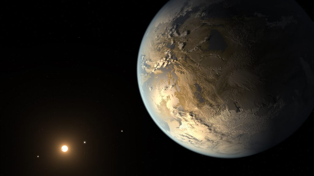 Artist rendition of one of the Earth-like planets discovered by Kepler